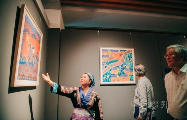 画笔描绘生命的礼赞!贵州平坡苗族绘画展在孔学堂开幕